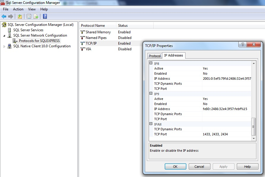 How Can I Configure Sql Server To Listen On Multiple Tcp Ip Ports