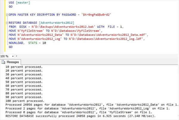 Encryption   Basit's SQL Server Tips